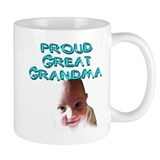 Proud great grandma Small Mug