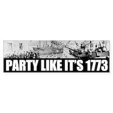 1773 Tea Party Bumper Car Sticker