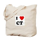 I Love CT Tote Bag
