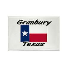 Granbury Texas Rectangle Magnet