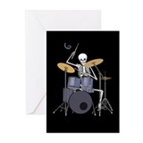 Skeleton Drummer Greeting Cards (Pk of 20)