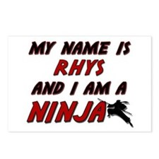 my name is rhys and i am a ninja Postcards (Packag
