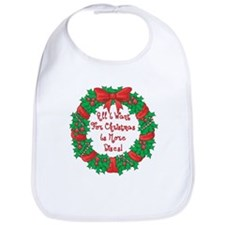 Wreath Disc Golf Christmas Bib