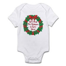 Wreath Disc Golf Christmas Infant Bodysuit
