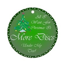 Christmas Tree Golf Discs Ornament (Round)