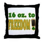 16 oz to Freedom Throw Pillow