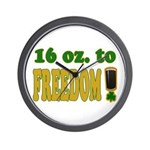 16 oz to Freedom Wall Clock