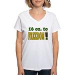 16 oz to Freedom Women's V-Neck T-Shirt