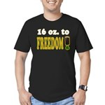 16 oz to Freedom Men's Fitted T-Shirt (black)