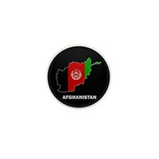 Flag Map of Afghanistan Mini Button (100 pack)