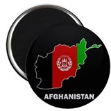 Flag Map of Afghanistan Magnet