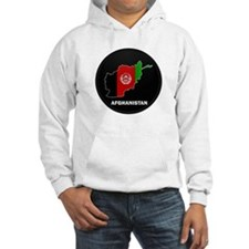 Flag Map of Afghanistan Hoodie