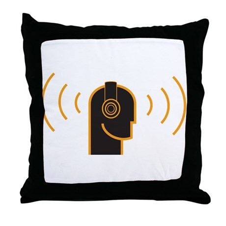 Keep Your Music Loud Throw Pillow