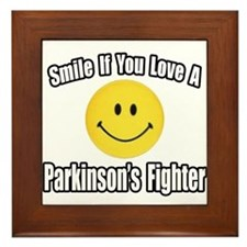 """Love a Parkinson's Fighter"" Framed Tile"