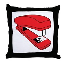 Red Stapler Throw Pillow