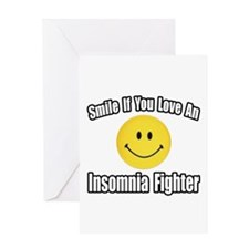 """Love an Insomnia Fighter"" Greeting Card"