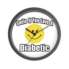 """Smile...Love a Diabetic"" Wall Clock"
