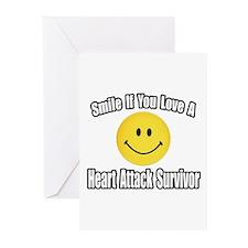 """Love..Heart Attack Survivor"" Greeting Cards (Pk o"