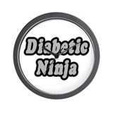 """Diabetic Ninja"" Wall Clock"