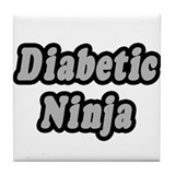 """Diabetic Ninja"" Tile Coaster"