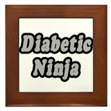 """Diabetic Ninja"" Framed Tile"