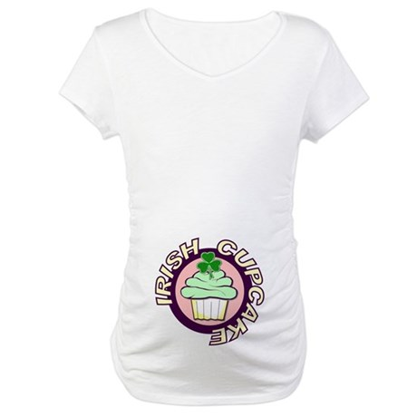 Irish Cupcake Maternity T-Shirt