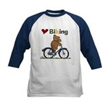Love Biking Blue Bike Tee