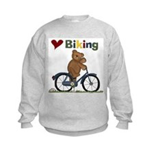 Love Biking Blue Bike Sweatshirt
