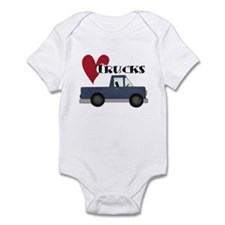 Blue Truck Love Trucks Onesie