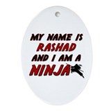 my name is rashad and i am a ninja Oval Ornament