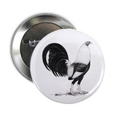 "Grey American Gamecock 2.25"" Button (100 pack)"