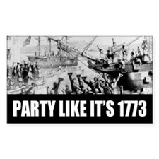 1773 Tea Party Rectangle Sticker 50 pk)
