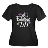 Still Fabulous at 55 Women's Plus Size Scoop Neck