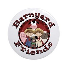 Barnyard Friends Ornament (Round)