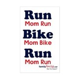 Duathlon Mom Rectangle Decal