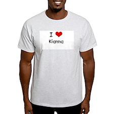 I LOVE KIANNA Ash Grey T-Shirt