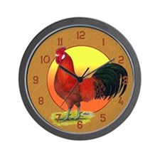 Buttercup Rooster Wall Clock