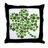 Shamrocks in a Shamrock Throw Pillow