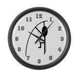 Cool Polevaulter Large Wall Clock