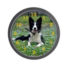 Wall Clock - Border Collie