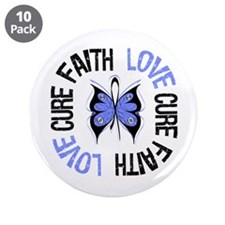 "Stomach Cancer Faith 3.5"" Button (10 pack)"