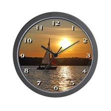 Sunset Sailboat Cruise Wall Clock