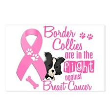 Border Collies Against Breast Cancer 2 Postcards (
