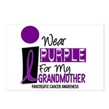 I Wear Purple For My Grandmother 9 PC Postcards (P