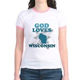 God Loves Wisconsin T