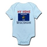 My Home Wisconsin Vintage Sty Infant Bodysuit