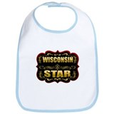 Wisconsin Star Gold Badge Sea Bib
