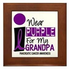 I Wear Purple For My Grandpa 9 PC Framed Tile