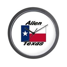 Allen Texas Wall Clock
