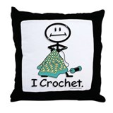 BusyBodies Crochet Throw Pillow